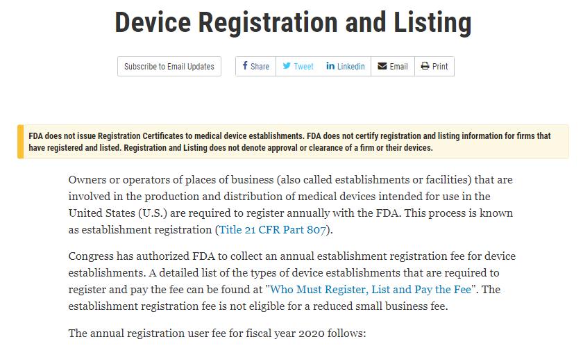 """FDA公开发布:所有""""FDA注册证书""""都不是官方发的!"""